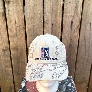 Vintage PGA Tour Men's Golf Signed Hat